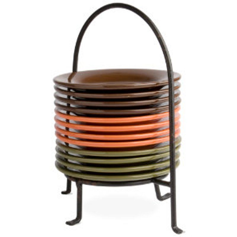 harvest appetizer plate and caddy great idea for thanksgiving rh pinterest com
