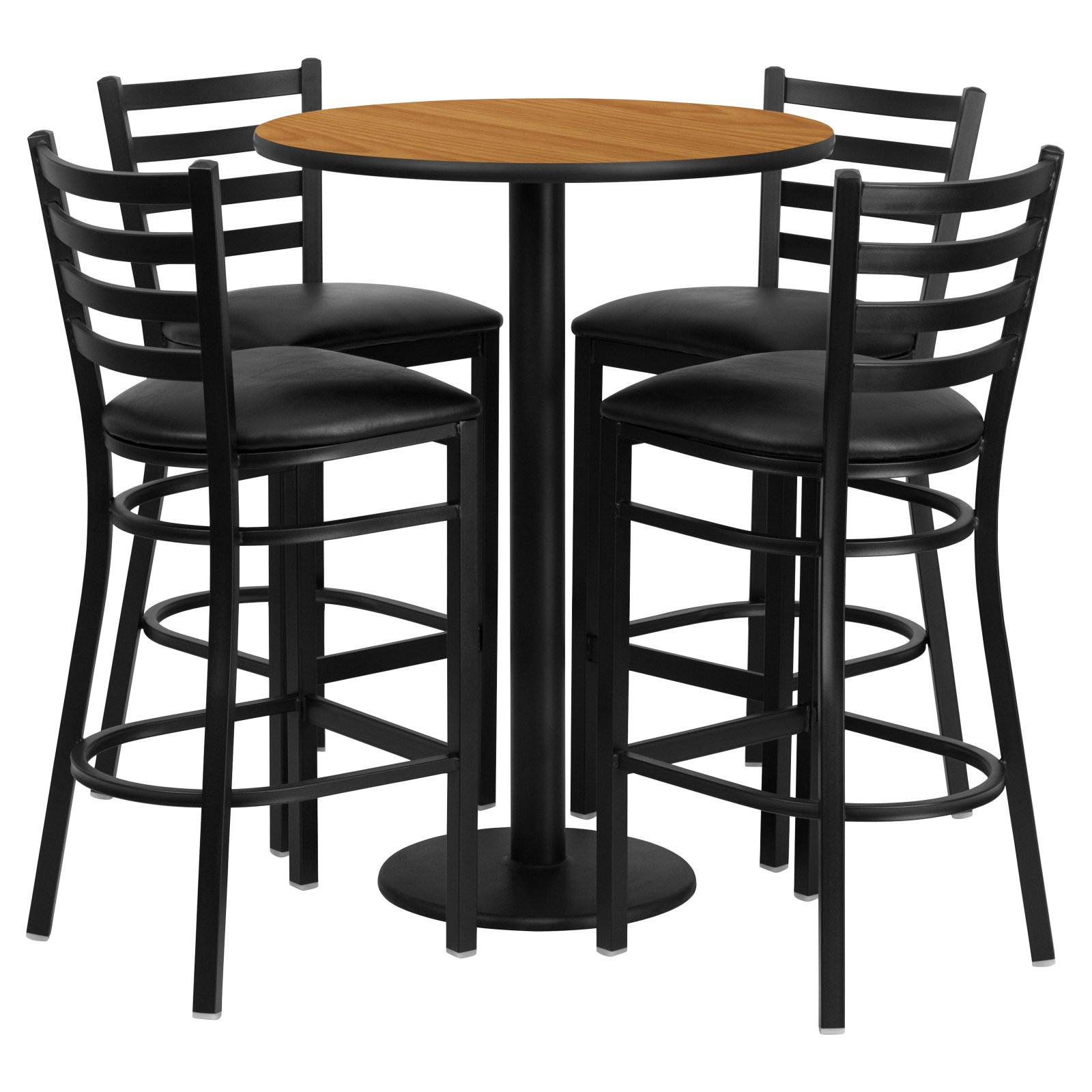 flash furniture 30 in round bar height laminate table set with 4 rh pinterest com