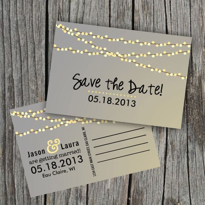 4a8b4dae6318faf45f49de05391fdf5a 50 Genius Wedding Ideas From Pinterest Save The Dates