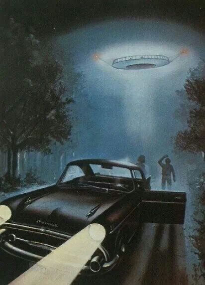 Photo of New Hampshire, Betty and Barney Hill Driving at Night See a UFO