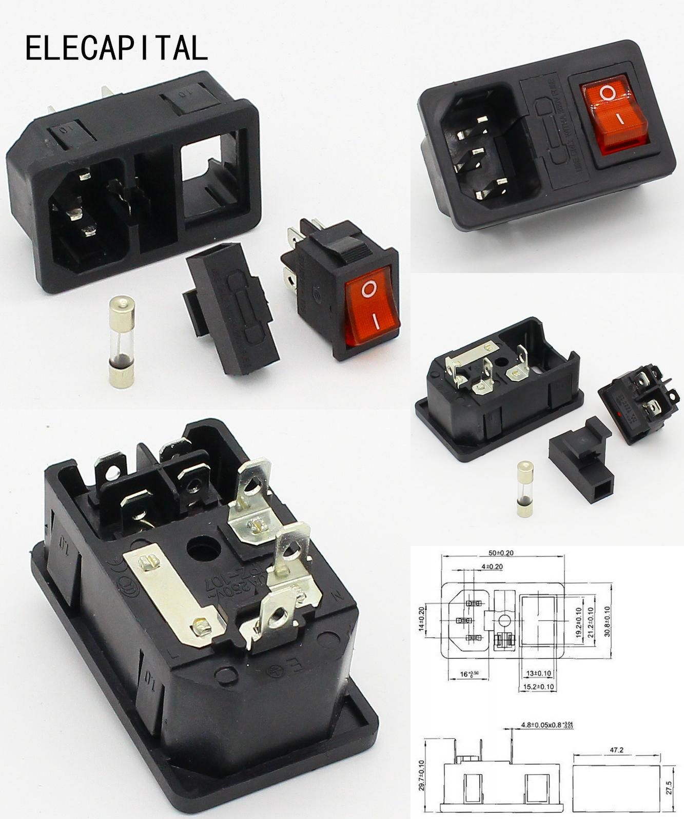 Visit to Buy] NEW HIGH QUALITY Red Light Power Rocker Switch Fused