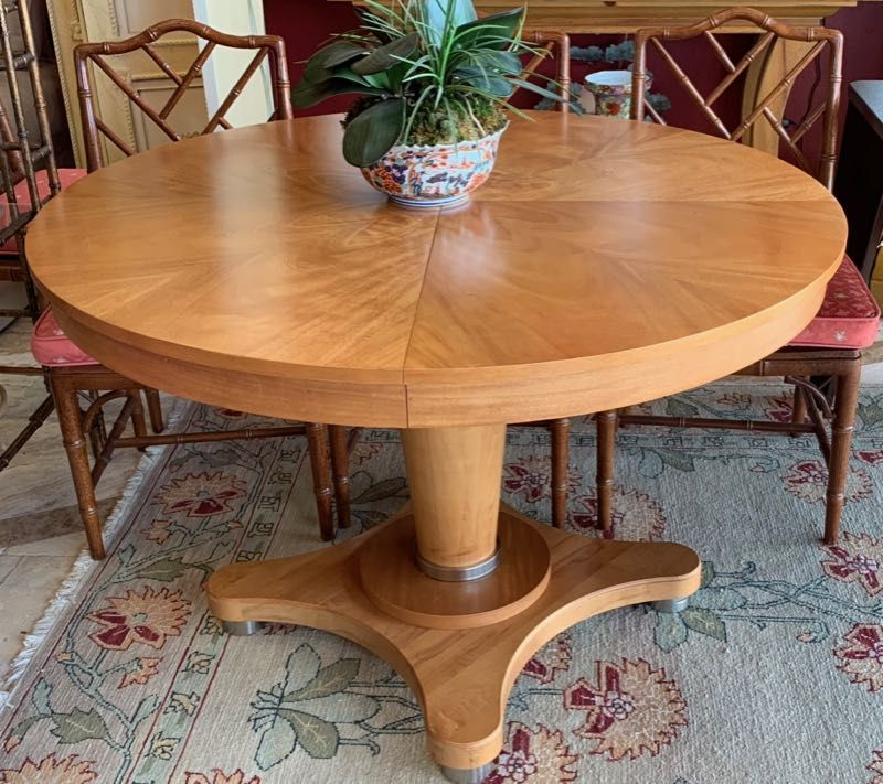 modern pedestal dining table table by ethan allen a little but art rh pinterest com