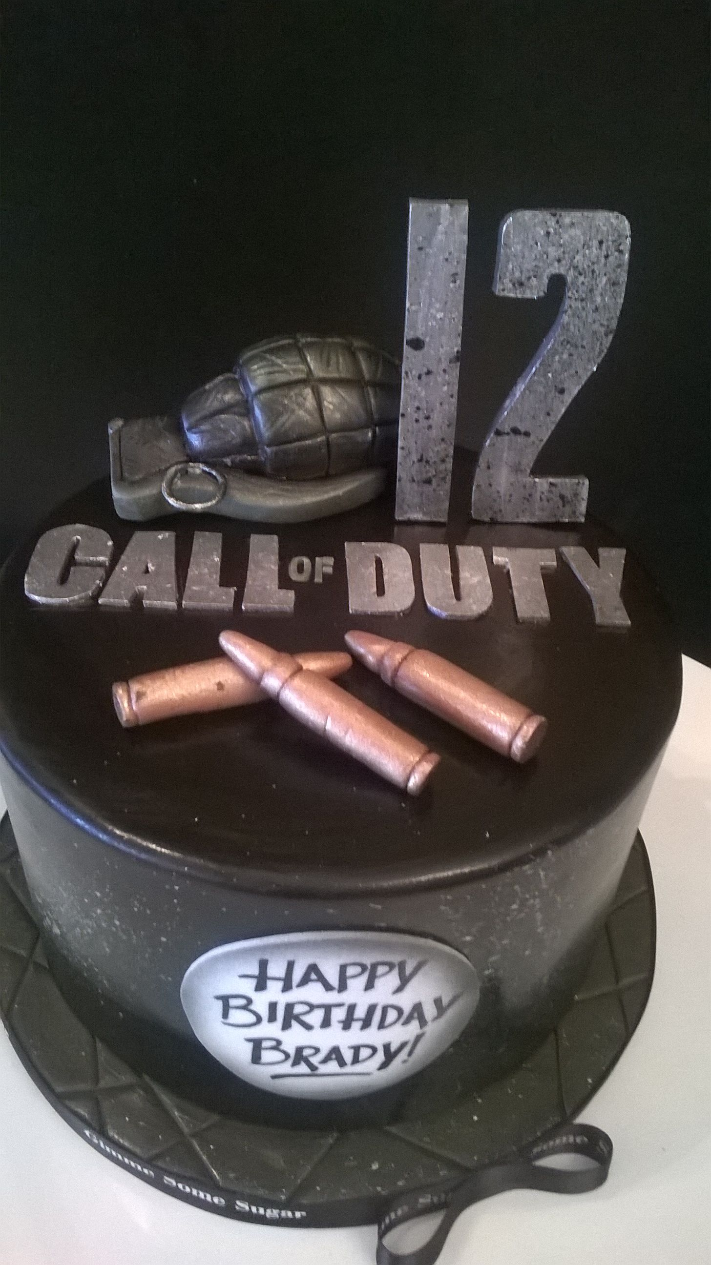 Peachy Call Of Duty Cake Call Of Duty Cakes Army Cake 12Th Birthday Cake Funny Birthday Cards Online Inifodamsfinfo