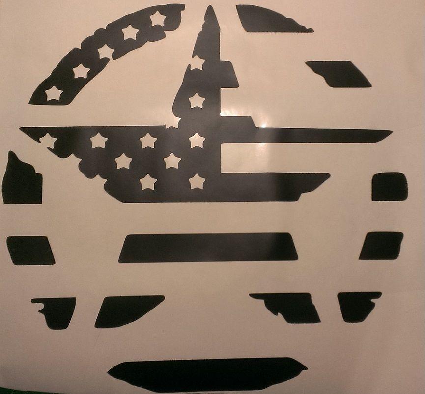 Military Star American Flag Hood Decal Jeep Wrangler JK CJ TJ JKU ...