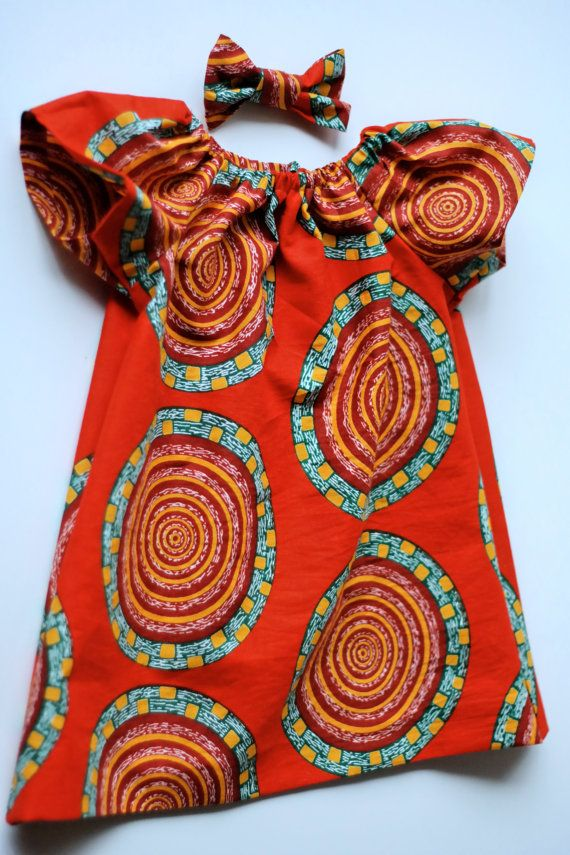 Hey, I found this really awesome Etsy listing at https://www.etsy.com/listing/218207170/baby-girl-dress-with-bow-unique-african