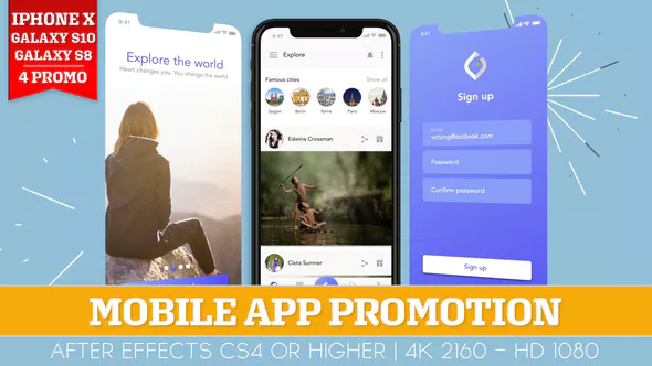 Mobile App Promotion by ouss VideoHive App promotion