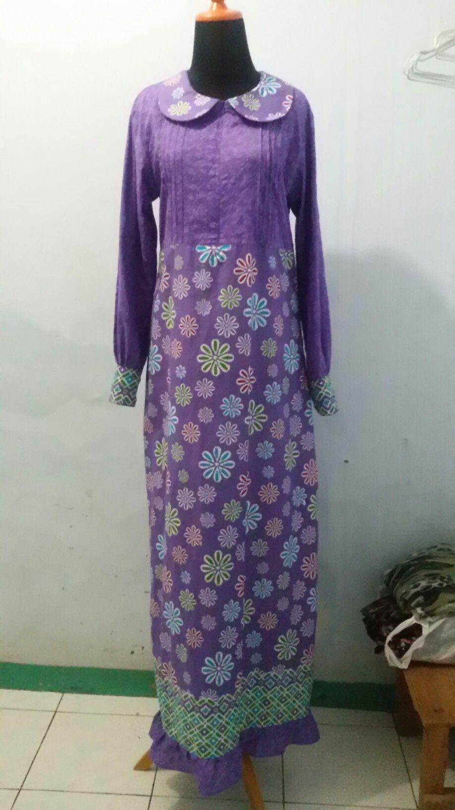 Gamis Kombinasi Batik Dan Batik Embos Dresses I Made Pinterest