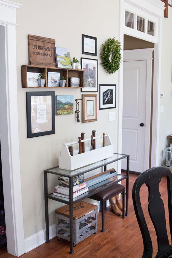 easy summer kitchen gallery wall updates mudrooms and entryways rh pinterest es