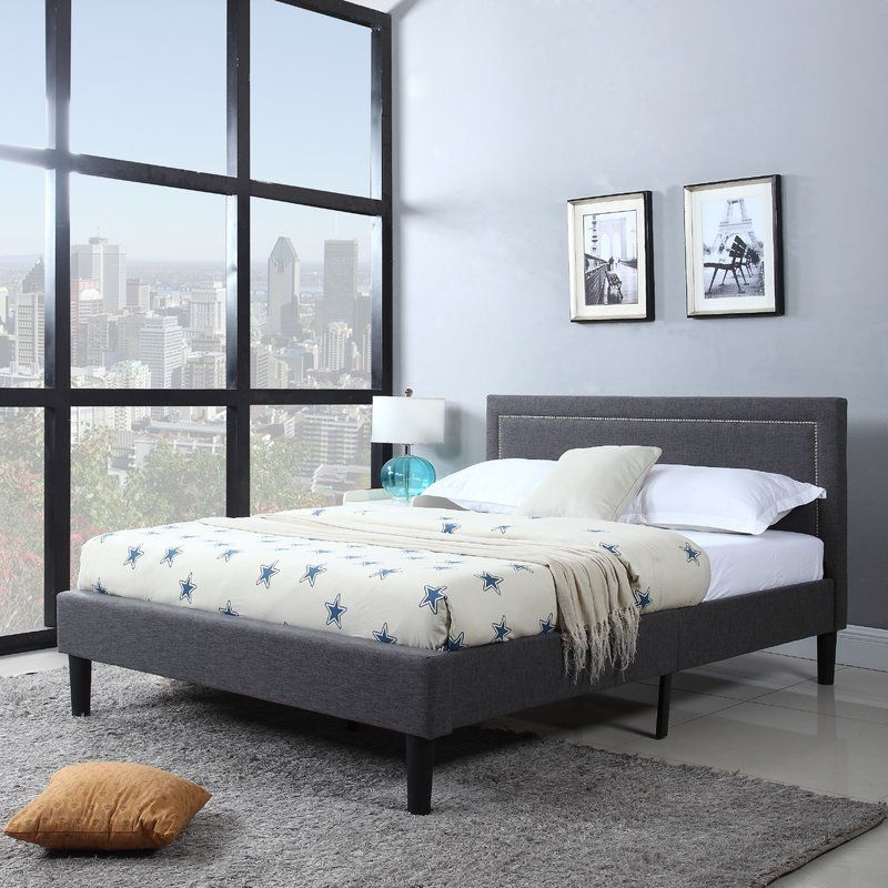 Classic and sophisticated bed frame with nailhead