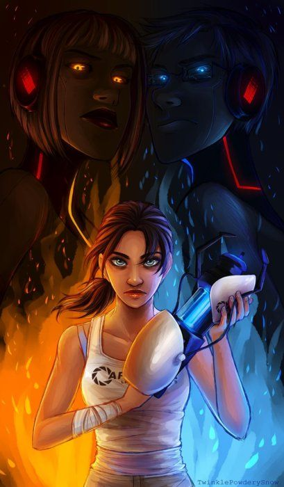 Chell Wheatley And Glados P S Wheatley Glados Are Not