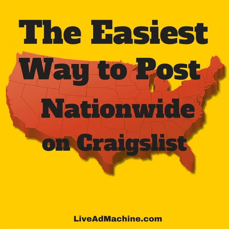 Easy tips to help you post nationwide on craigslist http