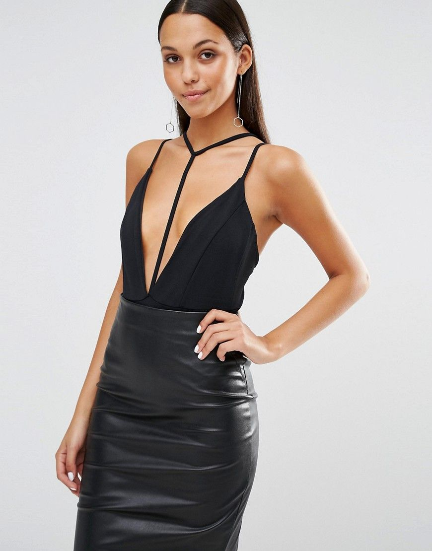 b210243c899f6 Missguided Strappy Harness Neck Body