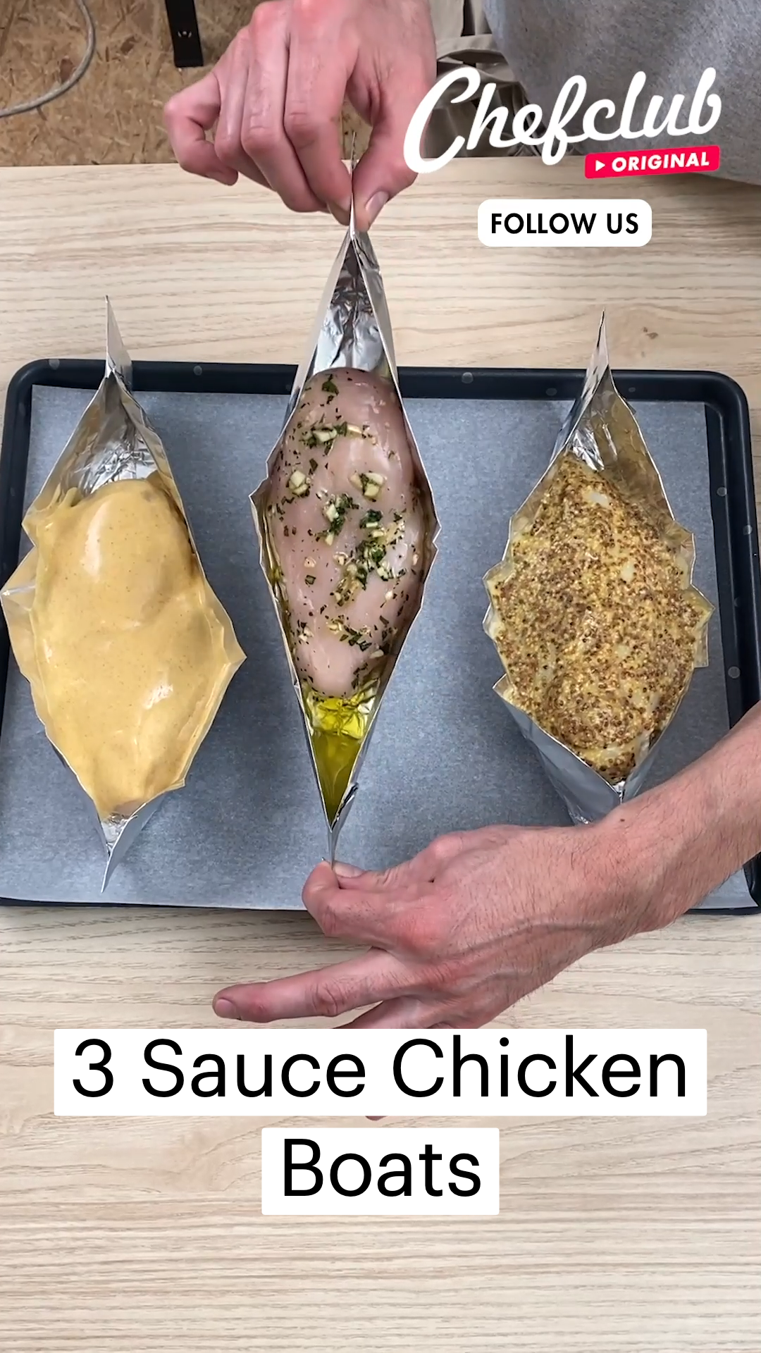 3 Sauce Chicken Boats