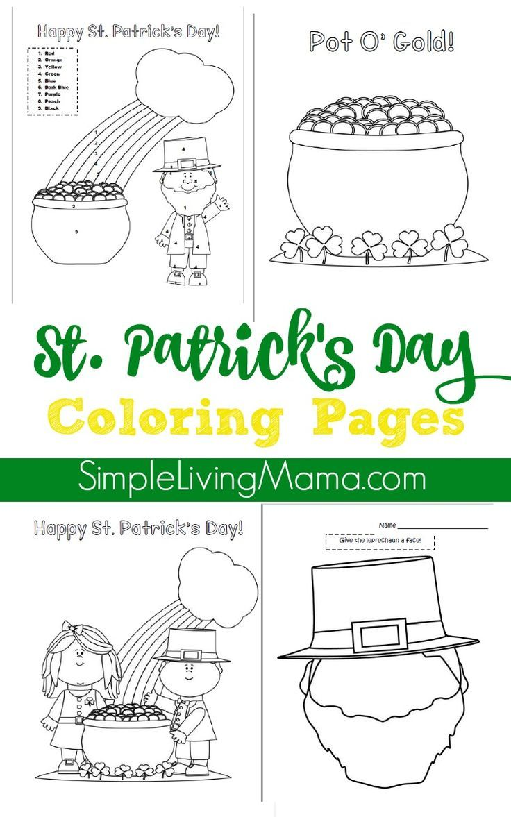 St. Patrick\'s Day Color By Number Page and Coloring Pages ...