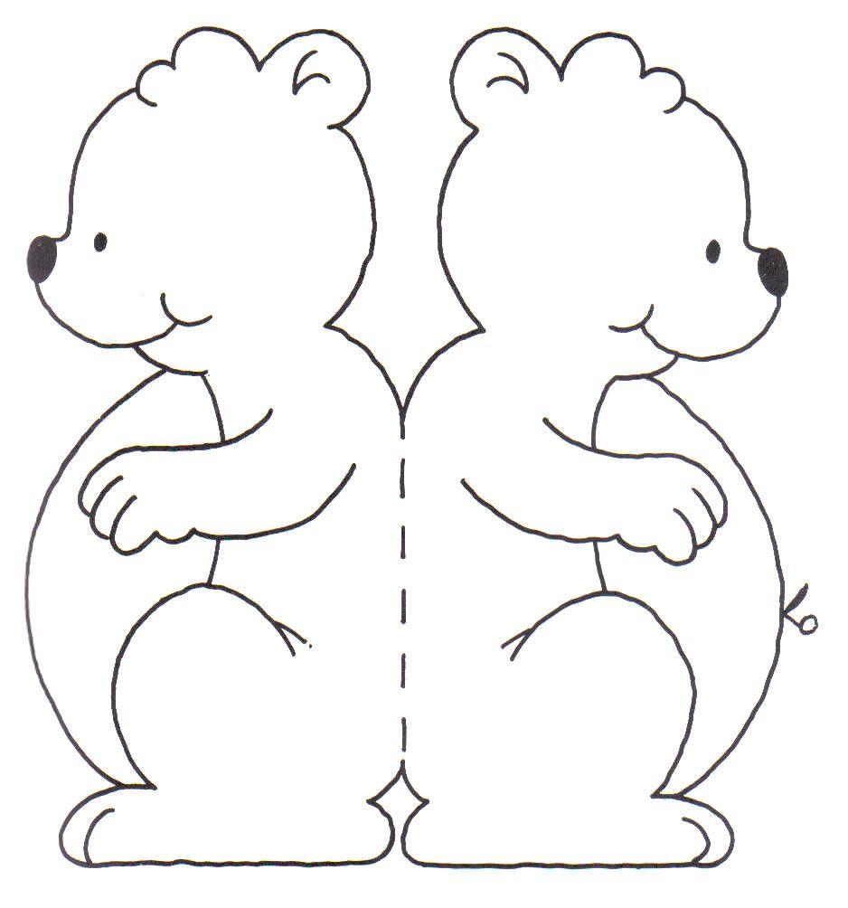 Medveď | Zvieratá, autá a iné vystrihovačky z papiera | Pinterest ...