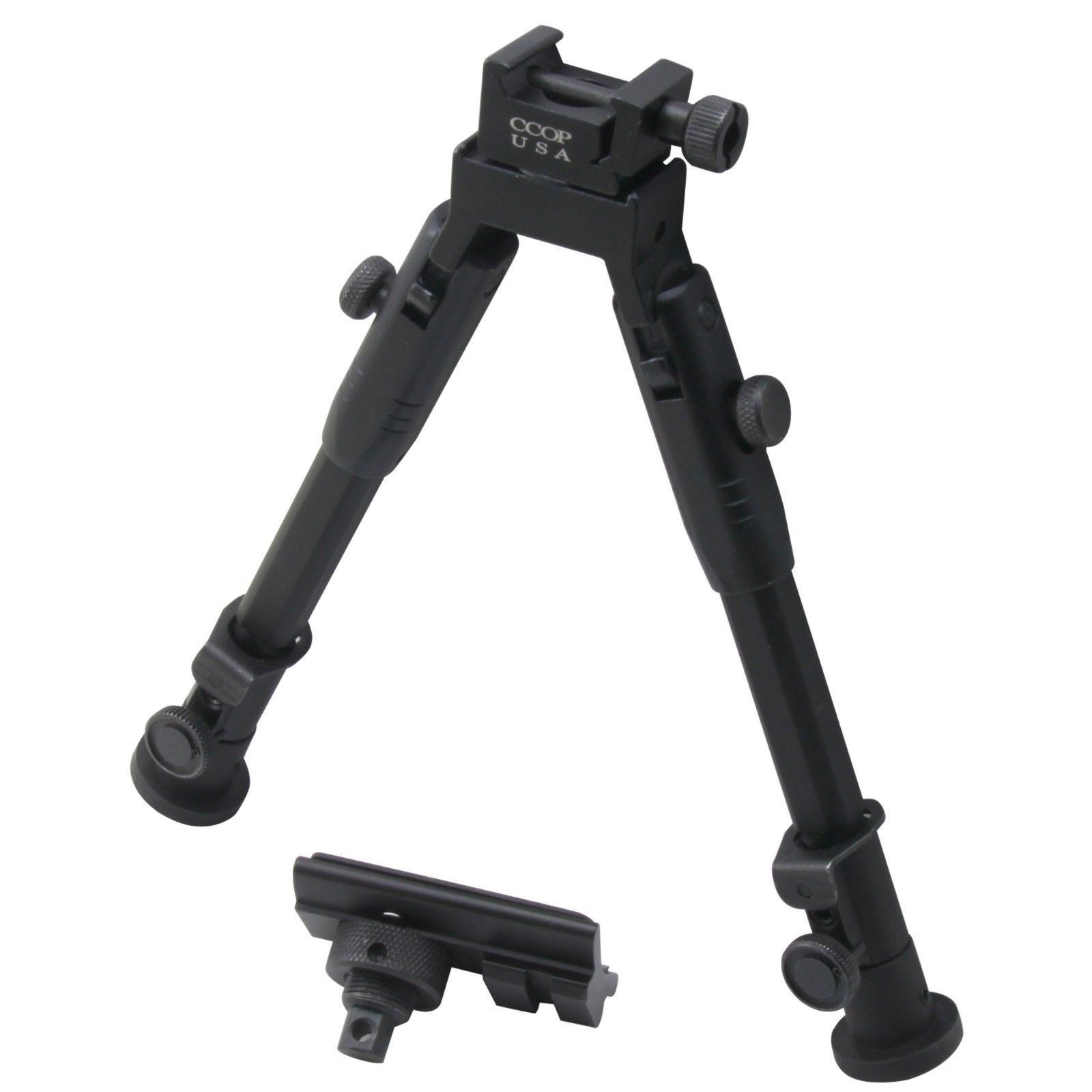 "Adjustable Compact 6/""-9/"" Hunting Bipod Picatinny w// Rail Mount For Pistol"