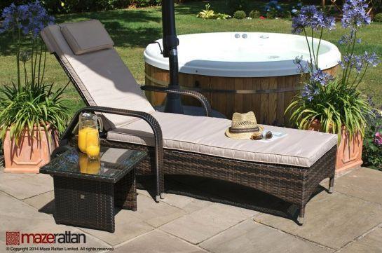 maze rattan florida sunbed sun lounger set garden furniture garden rh pinterest com