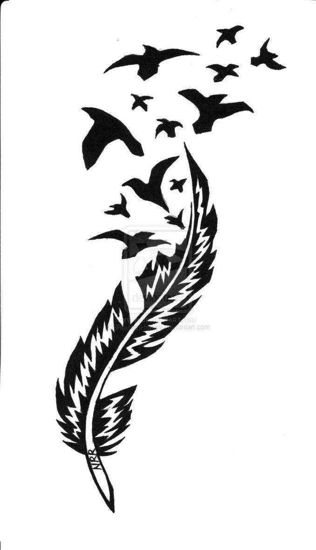 Http Th04 Deviantart Net Fs70 Pre I 2011 014 A 1 My Tribal Design By Friesianhorsey D36pyhn Jpg Quill Pen Tattoo Feather Tattoos Raven Tattoo