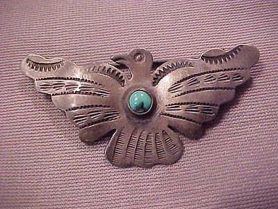 Vintage-Navajo-serling-silver-thunderbird-pin-charming-native-american-brooch