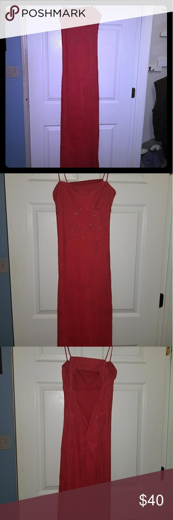 Ladies red glitter prom dress ladies size red glitter prom dress