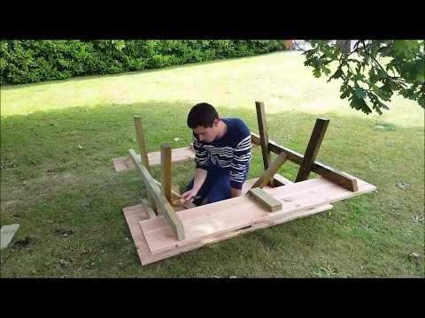 Gartentisch selber bauen Holztisch selber bauen - YouTube - gartenmobel selber bauen anleitung