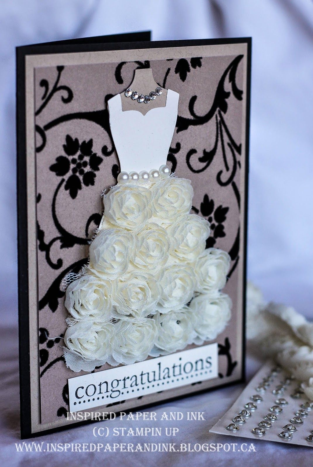 wedding anniversary card pictures%0A Inspired Paper and ink  Wedding Card  Using Stampin Up u    s Dress up framelits