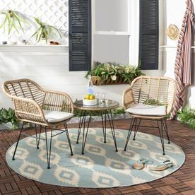 safavieh alton 3 piece plastic frame patio conversation set pat9004c rh pinterest com