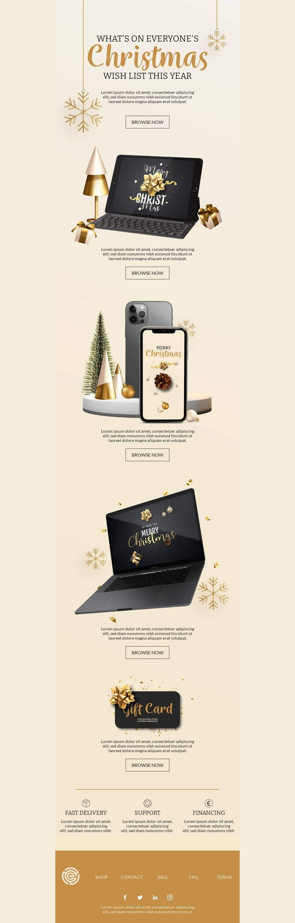 Template Bee Free Email Template Design Christmas Wishes Email Templates