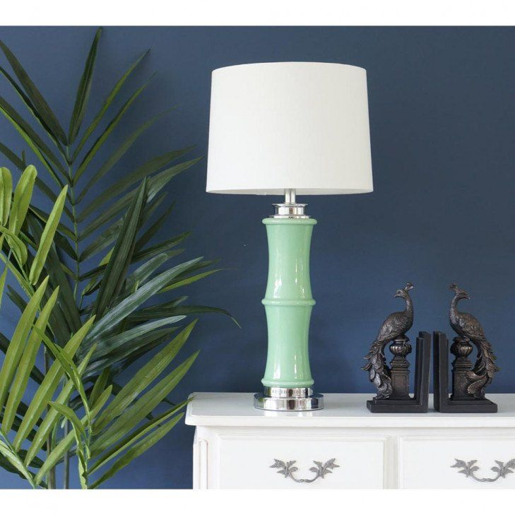 Green Bamboo Table Lamp Green Bamboo Table