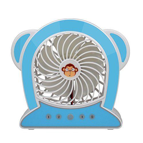 lidahao cute monkey shaped mini usb rechargeable table desk fan 5 rh pinterest co uk