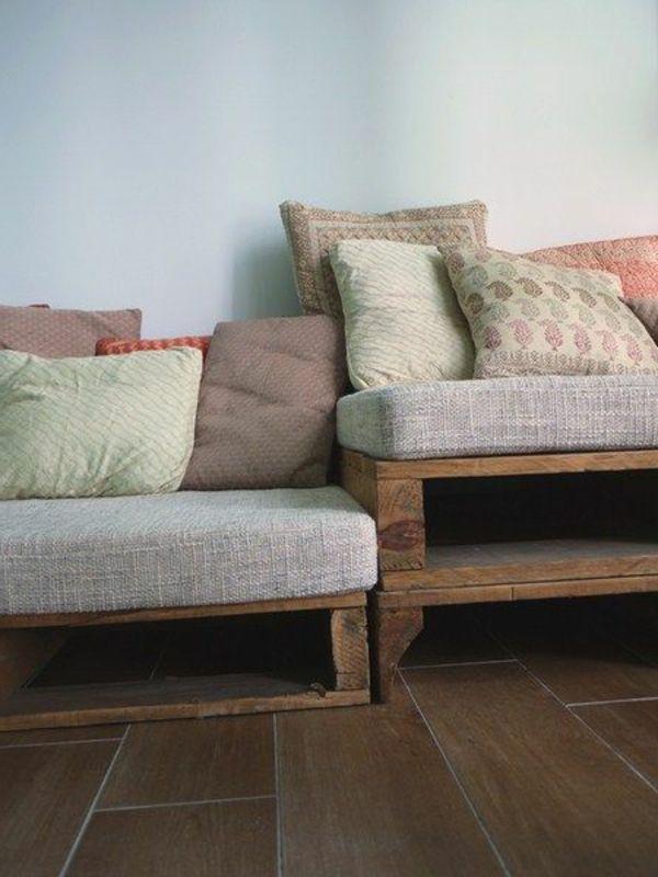 sofa aus paletten - eine perfekte vollendung des