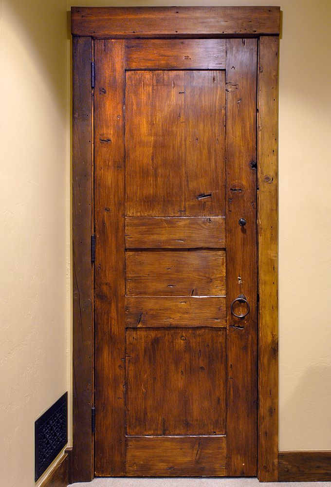 Rustic Bedroom Door   Custom exterior doors, Wine cellar ...