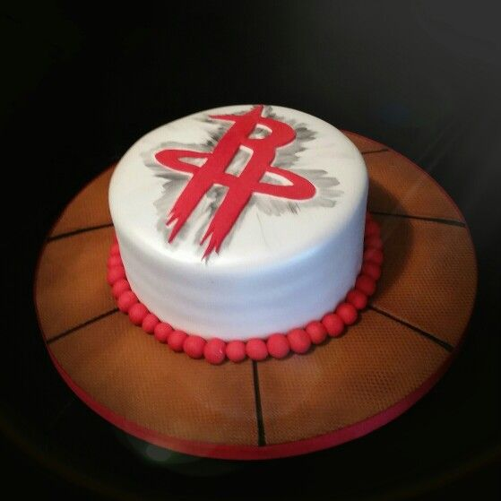 Houston Rockets Themed Cake Basketball Birthday Party Rocket Parties