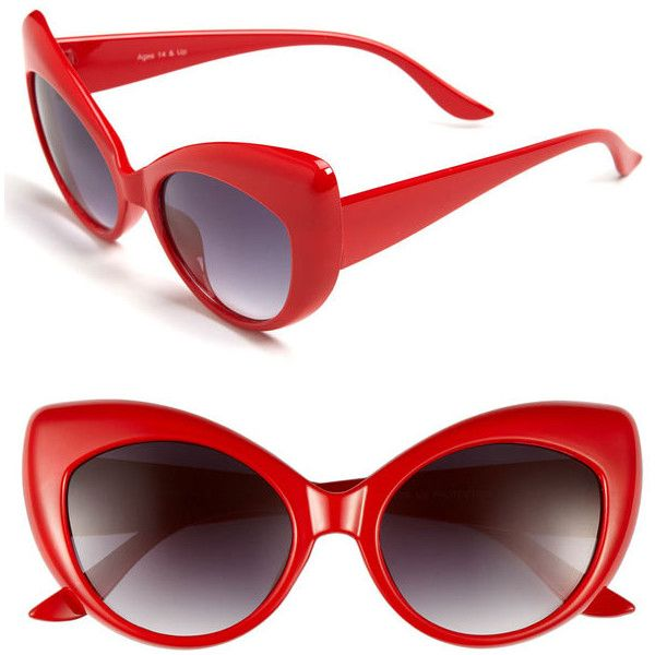Fe Ny Lindy Hop Cat S Eye Sunglasses Black One Size 11 Found On Polyvore Cat Eye Sunglasses Sunglasses Eye Jewelry
