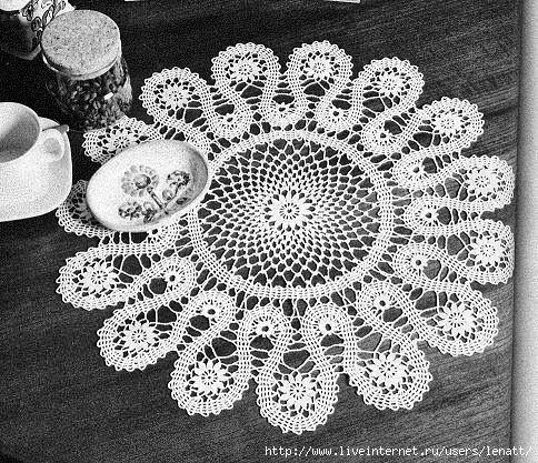 Crochet Knitting Artigianato: tovaglia di pizzo