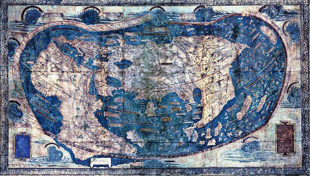 Hidden secrets revealed in 1491 world map