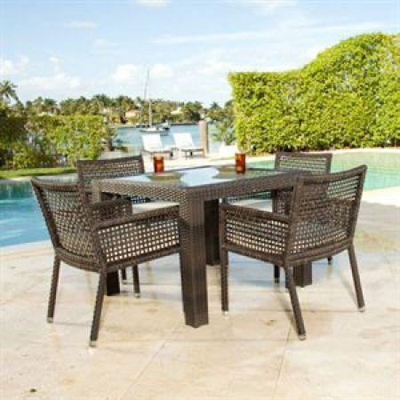 matterhorn 5 piece outdoor dining set designed to commercial rh pinterest com
