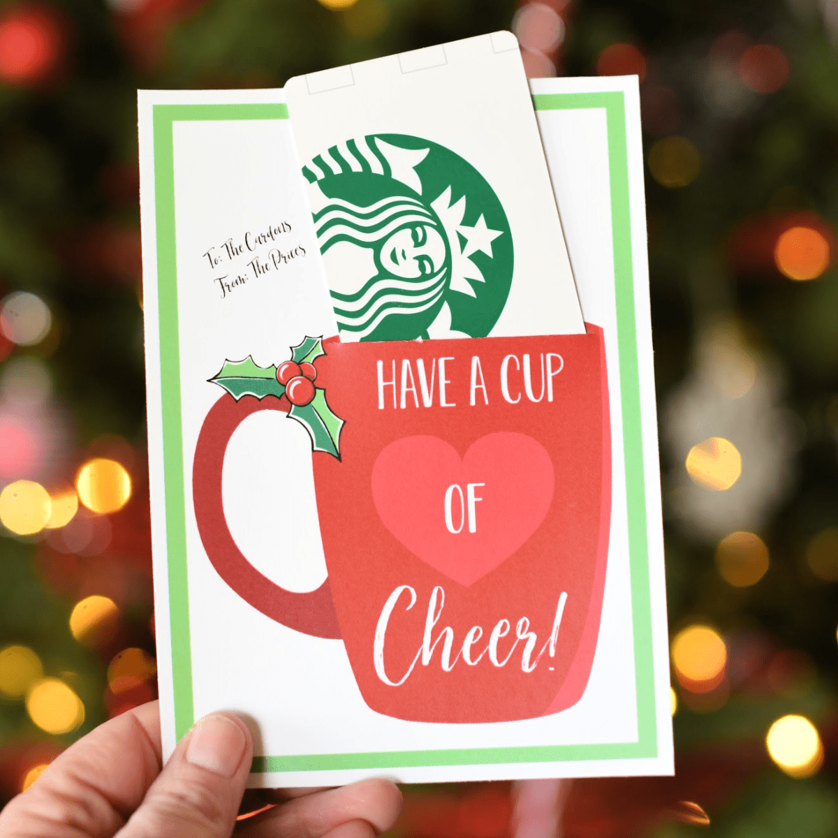 Starbucks Christmas Gift Cards 2020 Cup of Cheer Holiday Gift Idea in 2020 | Christmas gift card