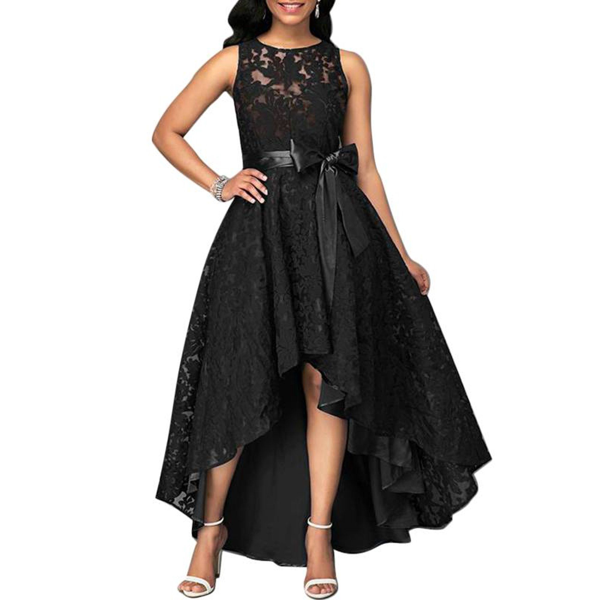 Justvh Justvh Women S Formal Floral Lace Sleeveless High Low Evening Party Maxi Dress Walmart C Lace Party Dresses Maxi Dress Party Party Dress Long Sleeve [ 2000 x 2000 Pixel ]