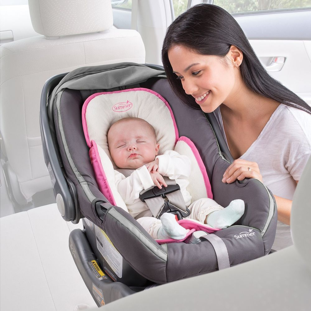 Baby Head Support Car Seat Stroller Infant Pillow Neck Travel Safety Body Pink Baby Car Seats Baby Head Support Baby Car