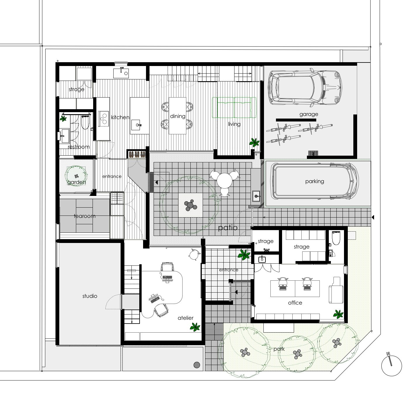 Patio Home Designs Exterior Modern Two Bedroom House Plans With Best ...