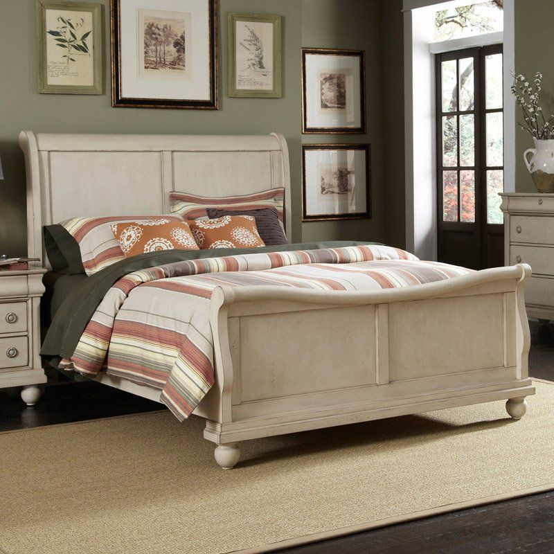 liberty furniture rustic traditions rustic white sleigh storage bed rh pinterest co uk
