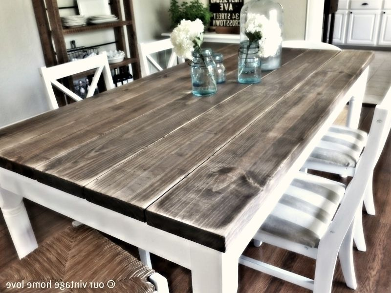 Paint Rustic Wood Dining Table Modern