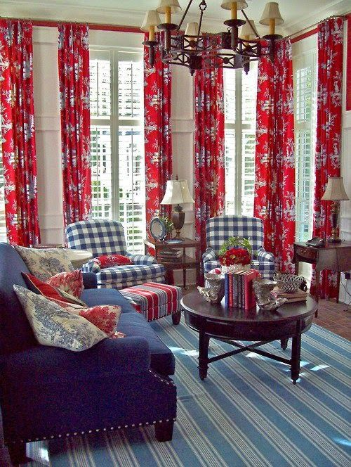 nancy s daily dish traditional red white blue rooms with rh pinterest com