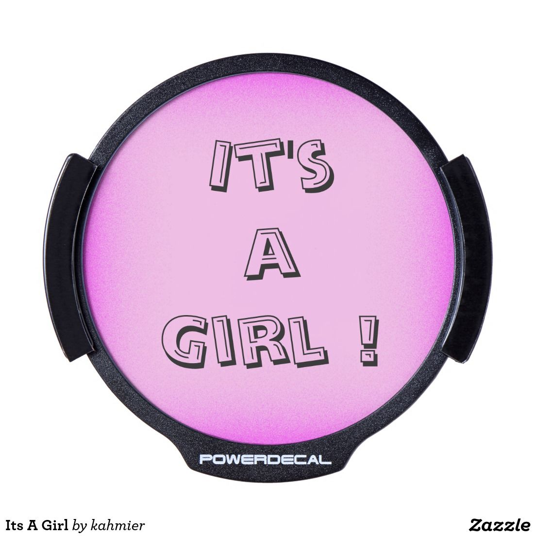 Its A Girl LED Car Window Decal