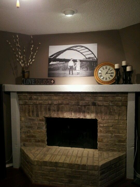 huge 4 mantel picture using staples engineering print for the home rh pinterest cl