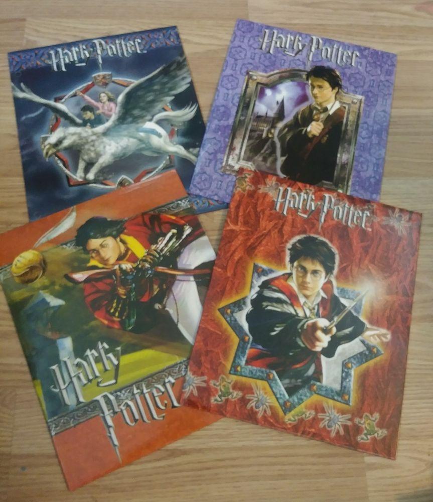 Harry Potter 3 Ring Binder SchoolFolders Lot 4 NEW