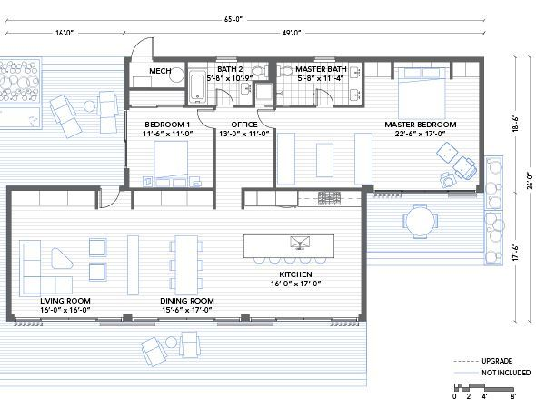 blu homes glidehouse floorplan 2 bedroom this could easily be done rh pinterest com