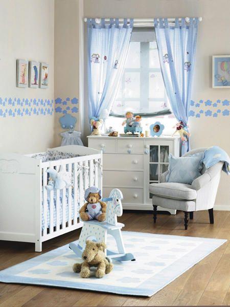 La habitaci n del beb bebe cortinas habitacion bebe for Decoracion para bebe varon