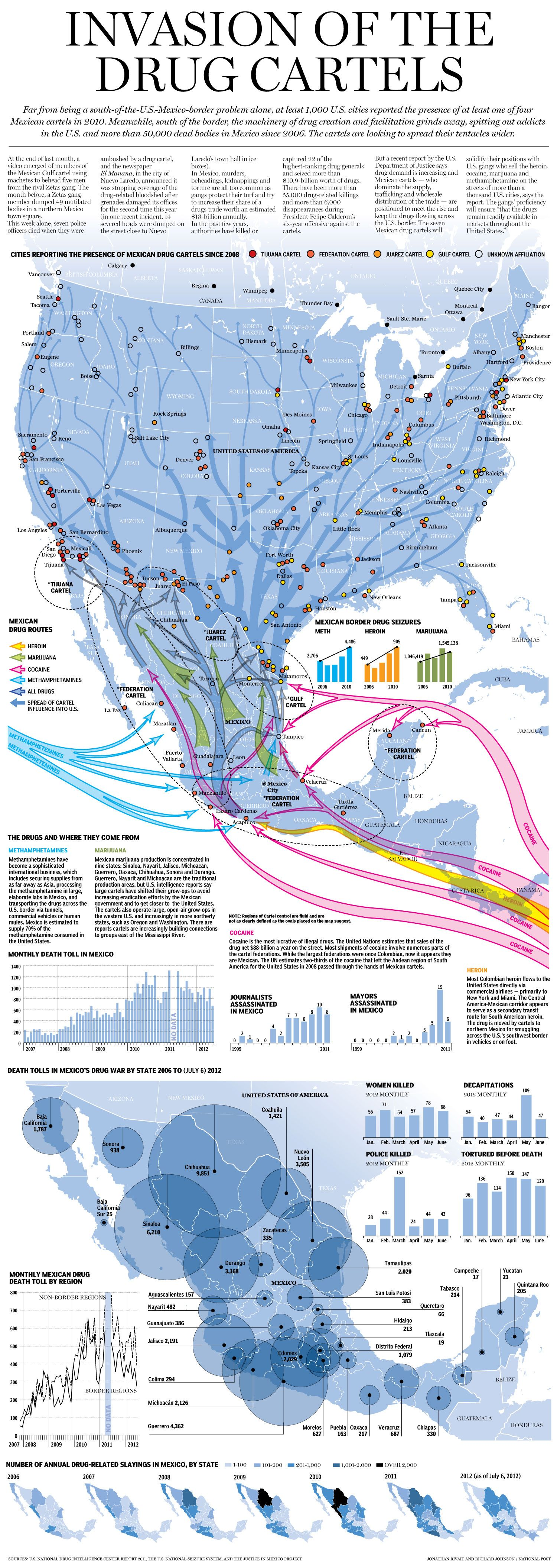 Mexican Drug Cartels' Spreading Influence - http://news.nationalpost.com/2012/07/13/mexican-drug-cartels-spreading-influence-graphic/